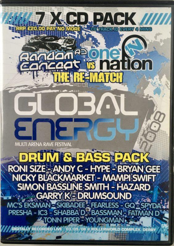 Global Energy - Random Concept vs One Nation - Drum & Bass - 2008 front