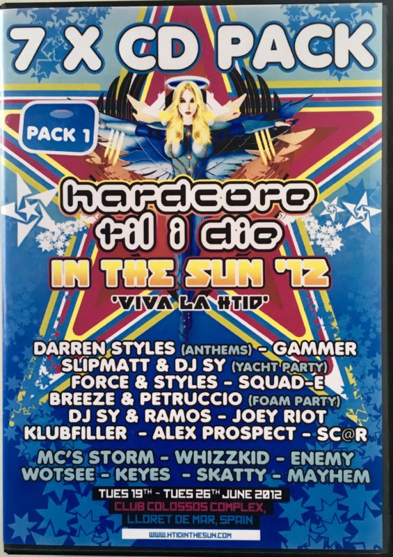 Hardcore Till I Die ' In the Sun' - 2012 - Pack 1 front