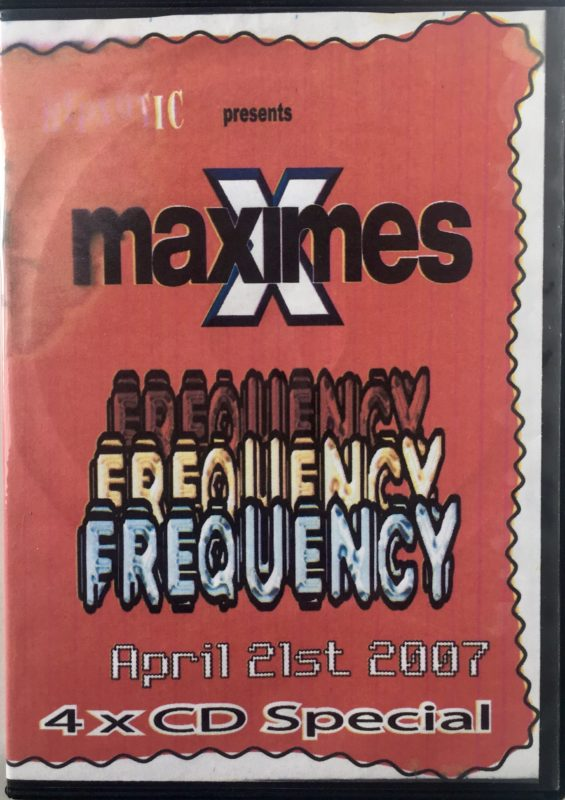 Maximes vs Frequency - April 21st 2007 front
